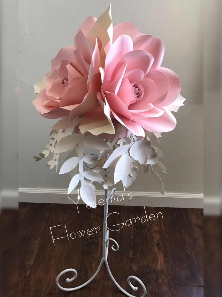 Paper flower centerpiece.