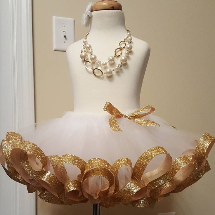 """This beautiful white and gold Thanksgiving /Christmas tutu is ready to ship!  Get yours today!  #thanksgivingtutu #christmastutu #beautyforashesdesigns…"""