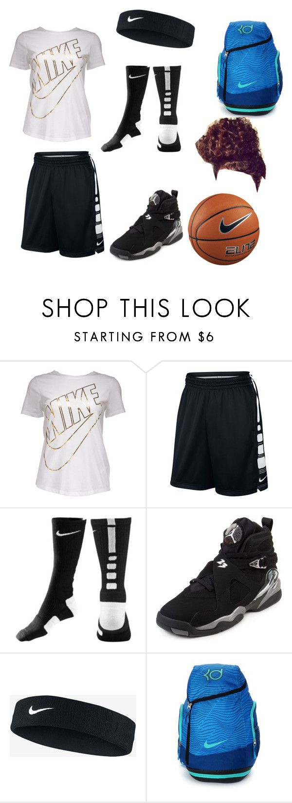 """""""Basketball practice Outfitt"""" by xsavageex on Polyvore featuring NIKE"""