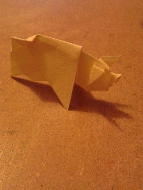 Origami pig! #Papercraft