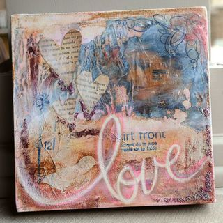 altered canvas I love