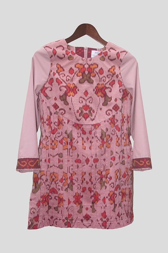 Dusty Pink Ikat Tunic by mylalitastyle on Etsy, $95.00