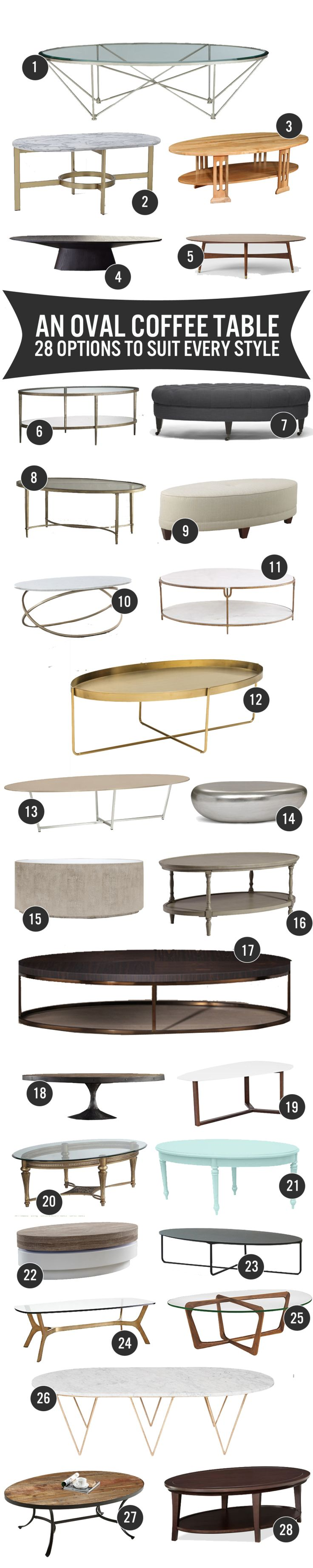28 Oval Coffee Tables To Suit Any Style | www.theanatomyofdesign.com