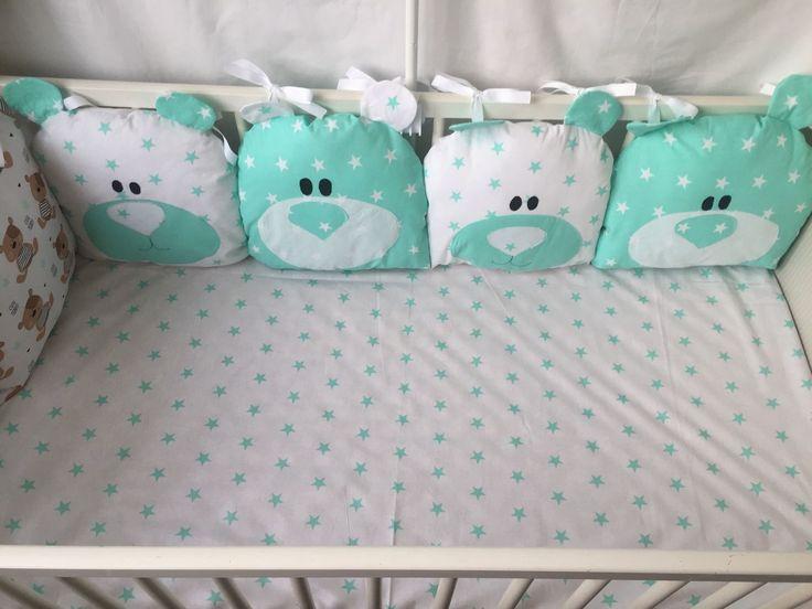 """Купить В НАЛИЧИИ!!! Бортики в кроватку """"Мишутка"""" - бортики в детскую кровать, бортики в кроватку"""