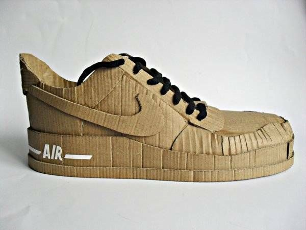 Just do it! With cardboard...  Nike Air cardboard shoe.