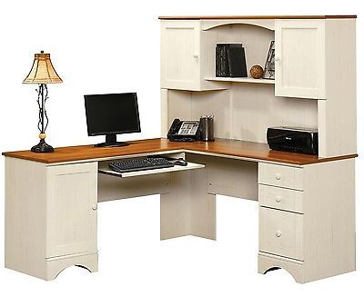 Office Desk With Hutch Computer Bedroom Furniture L Shaped Corner Home Table NEW