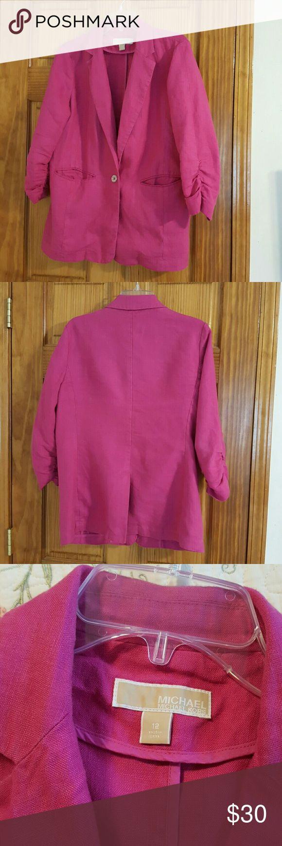 Michael Kors washed Linnen Blazer Pink Michael Kors washed Linnen Blazer Pink super soft and comfy Michael Kors  Jackets & Coats Blazers