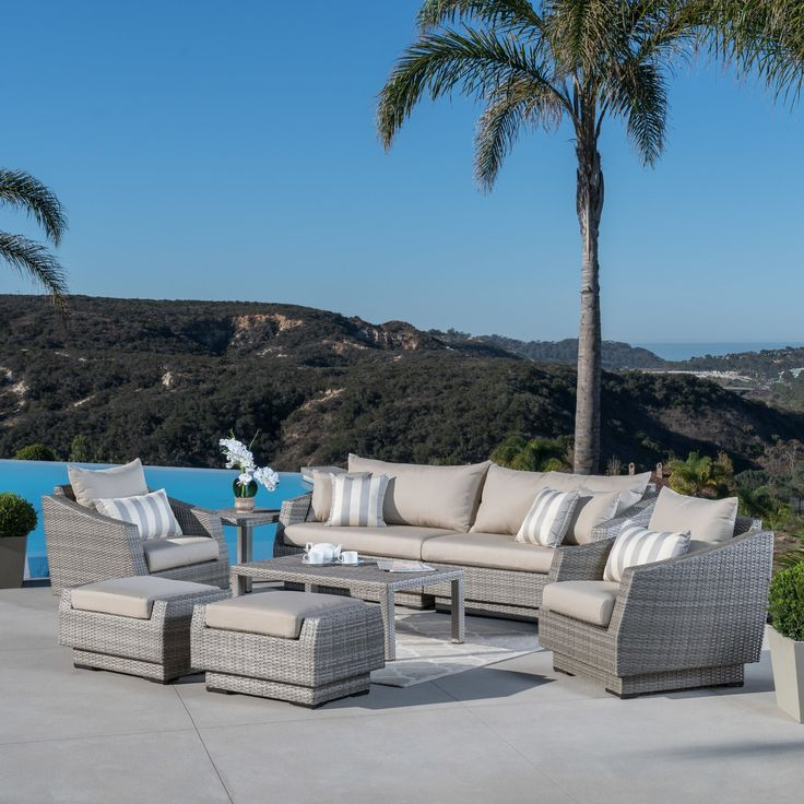 The right outdoor furniture set can turn any patio into a comfortable, timeless getaway. That's what we had in mind when we combined all weather durability and classic style in this outdoor grouping. Alfonso Collection gives your outdoor living space style and class and a source of pride for years to come.
