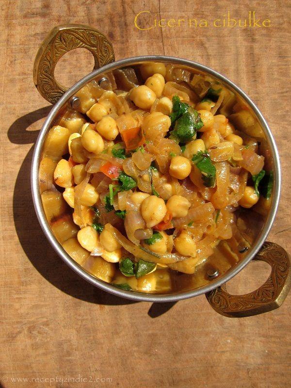 Recepty z Indie: Cícer na cibuľke