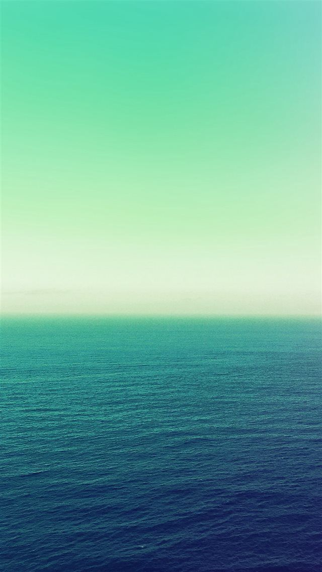 Calm Sea Green Ocean Water Summer Day Nature Iphone 8 Wallpapers