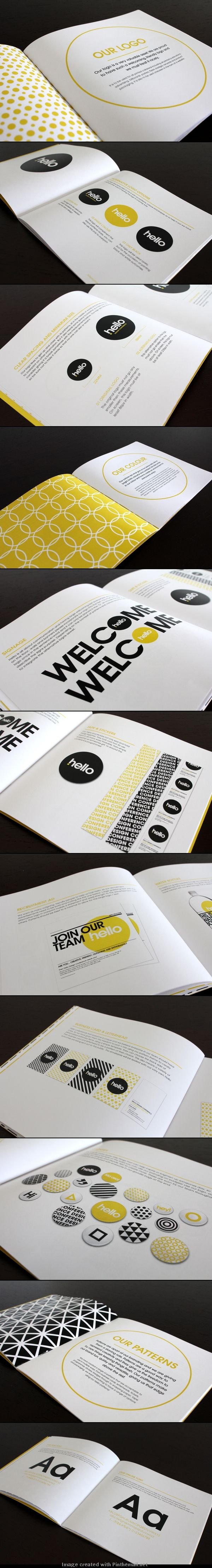 Hello Design Conference Brand Standards Manual by Raewyn Brandon, New York
