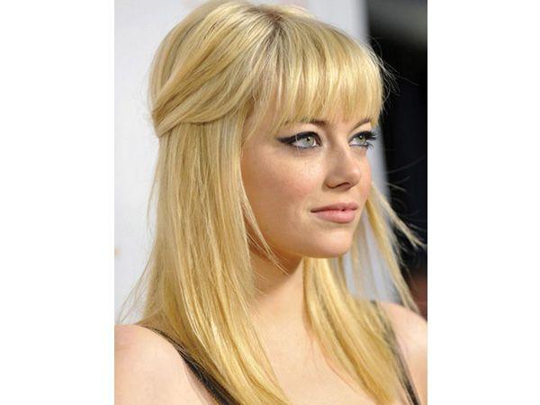 Peinado novia medio recogido suelto cabello lacio - Peinados de novia recogido ...