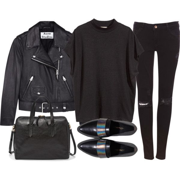 A fashion look from October 2014 featuring H&M tops, Acne Studios jackets and Pull&Bear jeans. Browse and shop related looks.