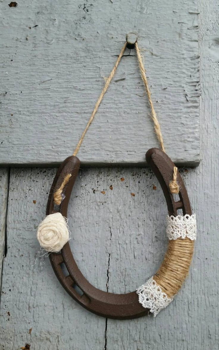 Horseshoe decorated shabby chic, wedding favors, lucky horseshoe, country horseshoe, rustic iron horseshoe with ribbon by TheMetalBarn on Etsy https://www.etsy.com/listing/232553021/horseshoe-decorated-shabby-chic-wedding