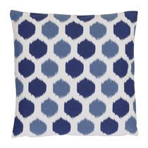 Kussen honingraat dessin blauw 45x45 cm
