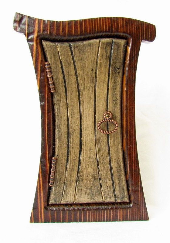 Enchanted Primitive Fairy Door for Your Home or Garden via Etsy