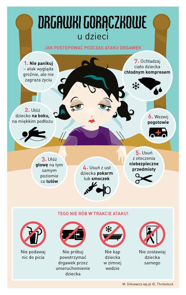 Drgawki gorączkowe u dzieci - co robić?