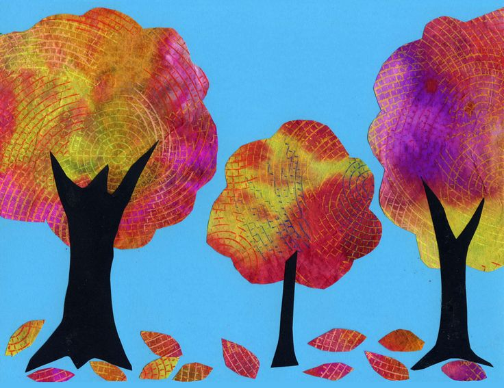 Watercolor on Coffee Filter Tree Collage. My students LOVED painting these this week. art projects for kids collage