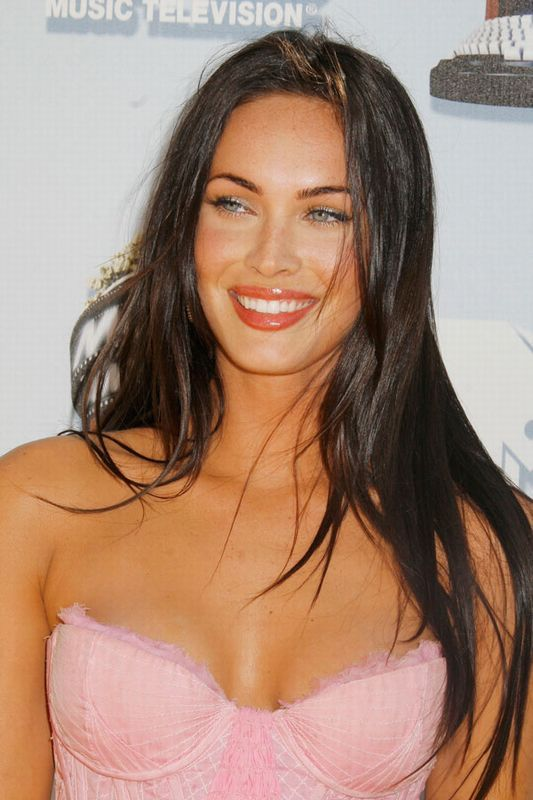 Megan Fox hair: Foxy locks - Haor and make up and great eyebrows and the glow - all super!