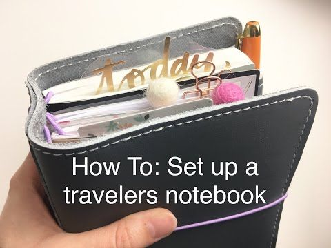How To: Set Up A Travelers Notebook - YouTube