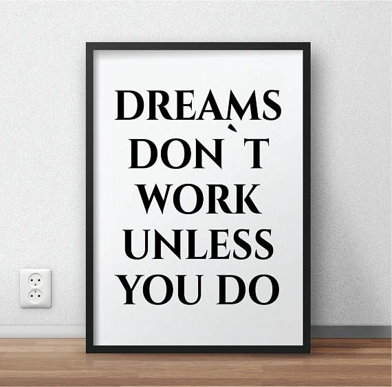 Hey, I found this really awesome Etsy listing at https://www.etsy.com/listing/509658210/dreams-dont-work-printable-bathroom