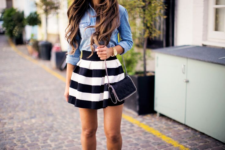 Blue And White Skirt | Jill Dress