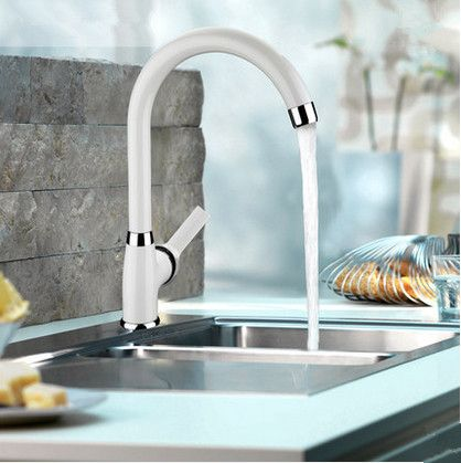 contemporary centerset white painting kitchen sink faucet t0553 - White Kitchen Sink Taps