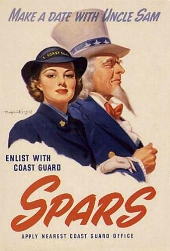 USCG Spars Recruiting - make a date with Uncle Sam. #ww2