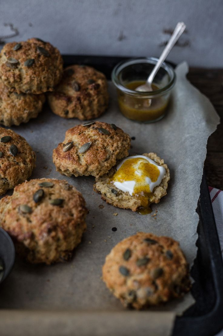 Multigrain Blood Orange & Pumpkin Seed Scones | Izy (of Top With Cinnamon) for The Yes Chef