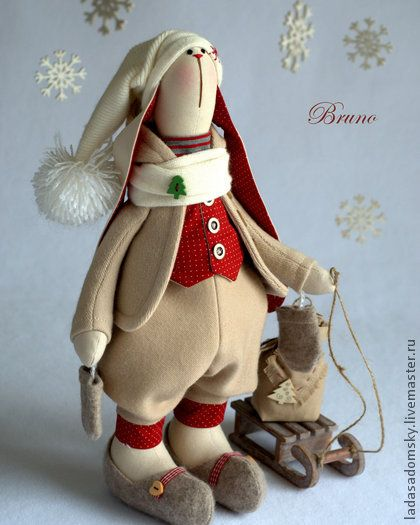Зайка Bruno - ` Зимнее настроение` (39 см). Выпал первый снег .... и зайка Bruno сразу же собрался идти на прогулку! Зайка получился очень теплым и уютным не только по цвету, но и по настроению. Согреет душу даже самой холодной зимой :)) Хорошим дополнением и…