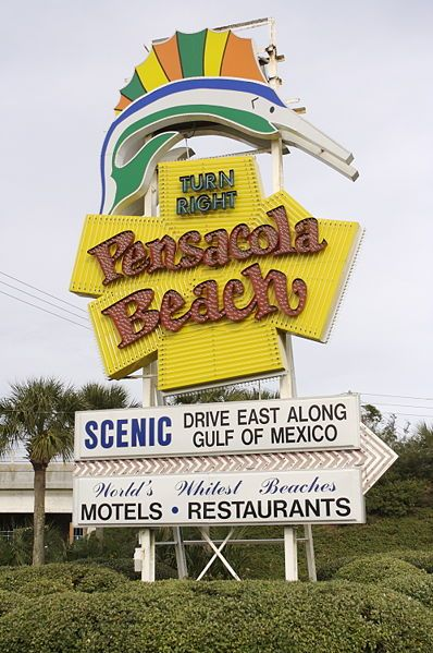 The Famous Pensacola Beach Sign Which Dates Back To 1950s Just Looking At