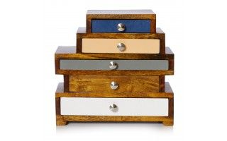Maggie Five Drawer Wooden Jewellery Box