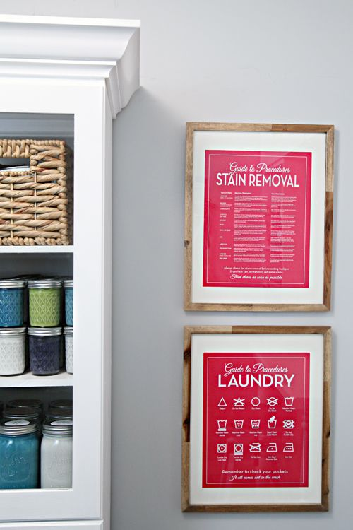 Laundry guides. These frames are so cute!