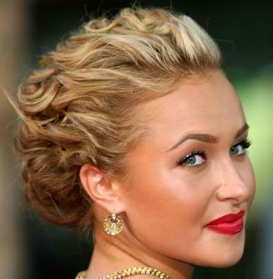 : Wedding Hair, Shorts Hair, Wedding Updo, Makeup, Prom Hairstyles, Red Lips, Hair Style, Promhair, Curly Hair