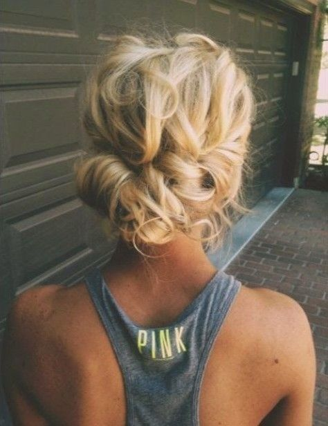Back View of Messy Updo for Women