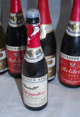 sekt ddr | AD646/ 5x DDR Sekt Flasche Rotstern Rotkäppchen + Plastikkasten alt ...