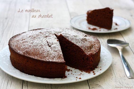 Moelleux au chocolat (bien gonflé et aérien).