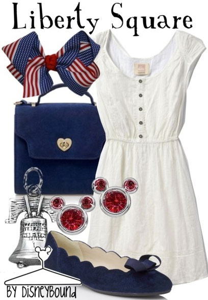 Disney Outfit - Liberty Square. So cute!