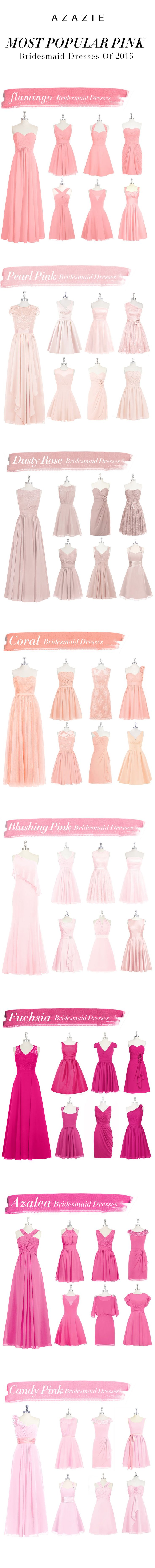 Vestidos em tons de  Rosas  Modesto Bridemaids - Rosa claro -  Pink Bridesmaid Dresses For 2015 By Azazie