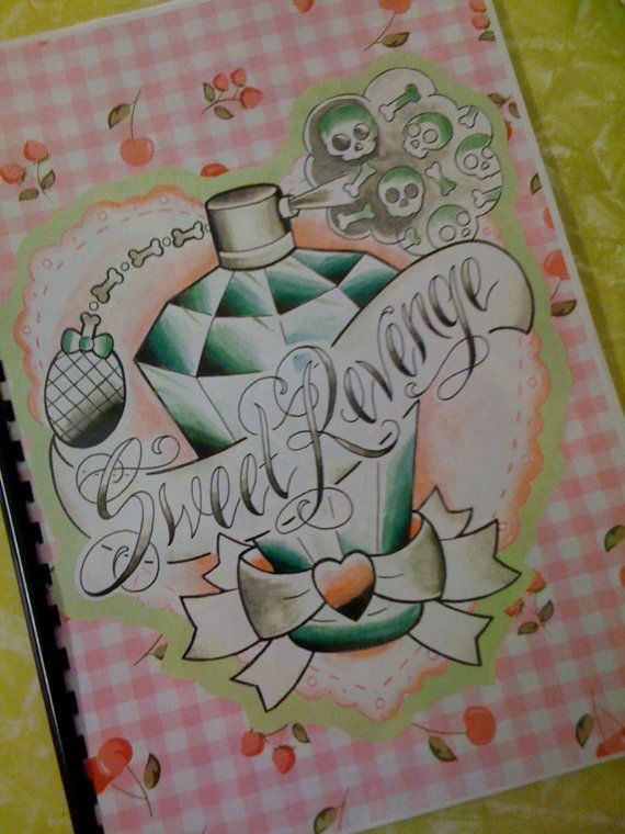 Tattoo flash Sweet Revenge book by Mimsy of Trailer Trash Tattoo