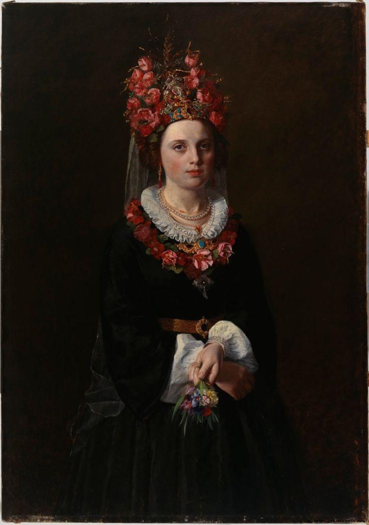 Karl Emanuel Jansson  (1846-1874) —  Peasant Bride from Åland,  1869 : Ateneum Art Museum, The Finnish National Art Gallery, Helsinki. Finland     (843x1024)