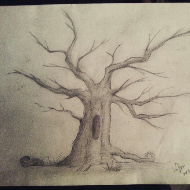 #Drawing Spooky Tree PenCiL by imVaso
