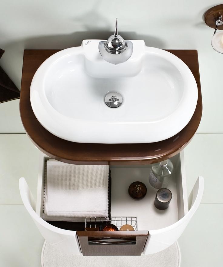 Antado Linea Blanca collection - wooden bathroom furniture / łazienka umywalka #bathroom #furniture #wood #washbasin #umywalka