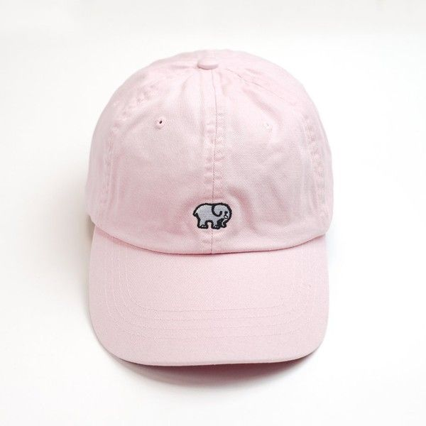 Pink Ella Baseball Cap ($29) ❤ liked on Polyvore featuring accessories, hats, adjustable baseball caps, embroidered baseball hats, pink ball cap, baseball hat and embroidered baseball caps