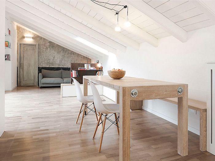Die besten 25+ Holztisch auf holzboden Ideen auf Pinterest - einzigartige wohnideen lebensbereich
