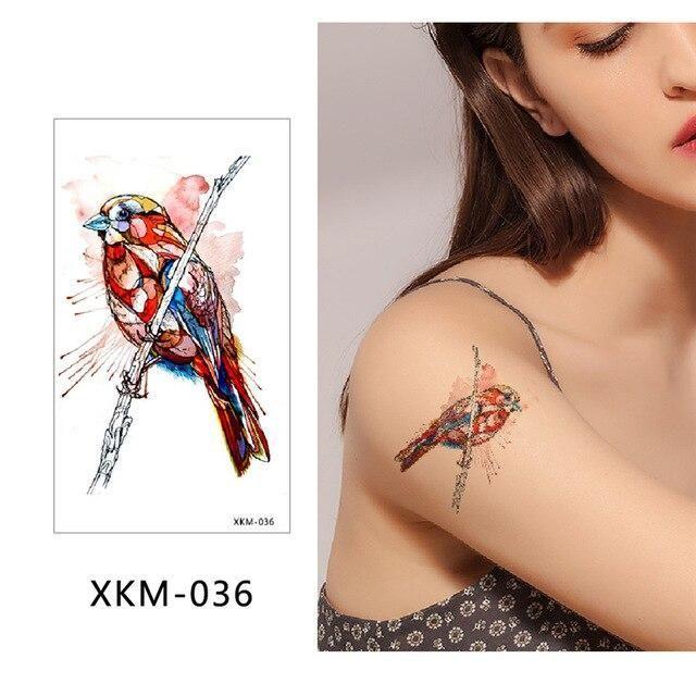 glaryyears New Designs 1 Piece Flower Body Tattoo Temporary Waterproof Flamingo Henna Animals… – DIY Tattoo Vorübergehend Blog