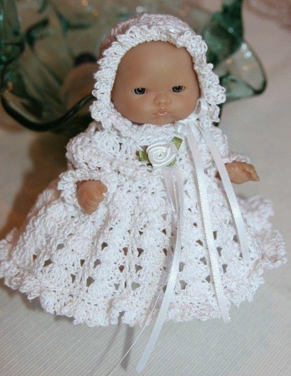 PATTERN Crochet 5 inch Berenguer Baby Doll Christening ...