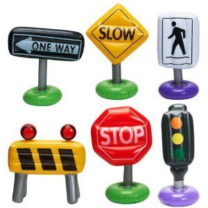 Amazon.com: Inflatable Traffic Signs Party Accessory: Toys & Games