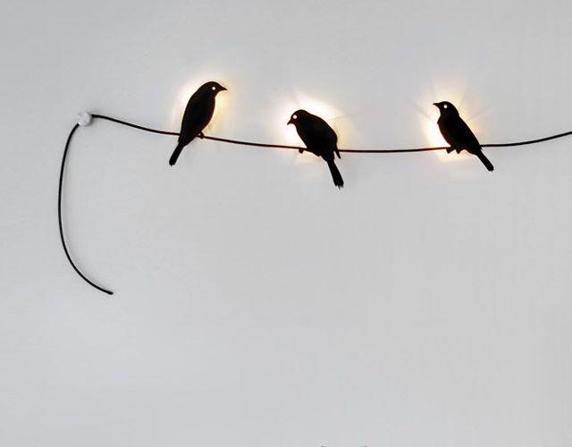 Birds on a wire lights. http://www.geekalerts.com/birds-on-a-wire-beautiful-illumination/