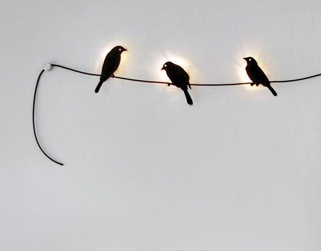 Birds on a wire lights